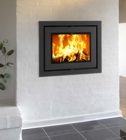 Heta Classic Insert wood burning stove click to see it burning