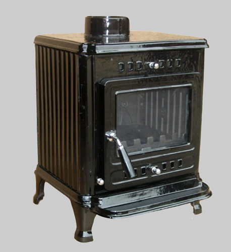 Enamelled Lark stove black