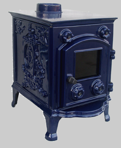 Enamelled Orford stove blue