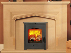Newbourne Convector 60 Inset Stove in Stamford fire surround room set 2