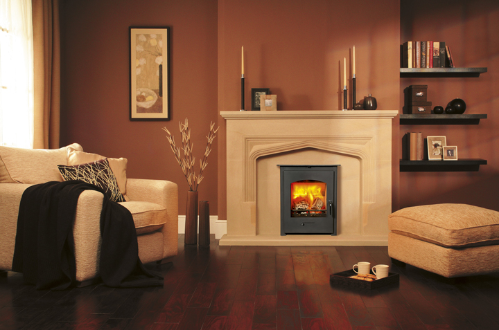 Pevex Convector 60 Inset Stove in Stamford fire surround room set