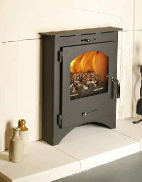 Bohemia X40 Inset wood burning stove click to see it burning